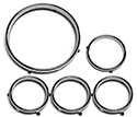 57 Instrument Bezel Rings, 5 Pieces