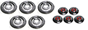 5-55/56 Clipless Simulated Wire Wheel Covers with red centers
