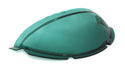 55-56 Plastic Speedometer Dome Cover, Green