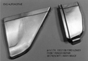 57/59  LH Lower rear front fender panel with inner brace, manufactured by EMS in 18 gauge steel