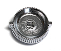 55/57 Radio Knob Bezel, chrome, 2 required