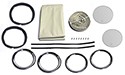 55-57 Porthole Kit, Clear, Bone Headliner