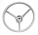 57 Thunderbird Steering Wheel, White