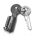 55-59 / 61-63 Trunk Lock Cylinder & Keys