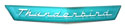 56/57 Thunderbird Turquoise Plastic Name Plate