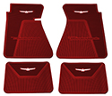 61-63 Front And Rear Floor Mats, Red With White Emblem