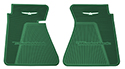 61-63 Front Floor Mats, Dk Green With White Emblem