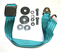 Peacock Blue/ Light Turquoise Seat Belt