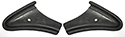 61/63 Thunderbird Dash Pad End, black vinyl