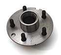 55/62 Front brake hub with studs and races, each