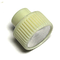 Radio Knob, white with silver insert, each