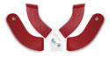 Seat Hinge Covers, Red