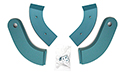 Seat Hinge Covers, Turquoise