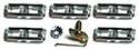 64/66 Thunderbird Clips and nut to hold  LH front 1/4 panel body side protection moulding