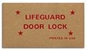 Lifeguard doorlock decal
