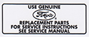 64-68 Air Cleaner Service Decal
