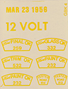 Inspection stamp decal set