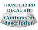 1955 Thunderbird Decal Kit