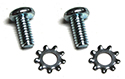 55/56 Thunderbird Gas door hinge to body screws and washers, (4 pcs)