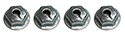 55/57 Thunderbird Radio speaker grill to dash nuts (4 pcs)