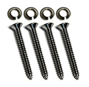Door garnish rails (20906-7) to doors screws and washers (8 pcs-2 sides)