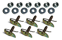 Door garnish moldings (21172) to garnish rails clips, washers and nuts  (18 pcs-2 sides)