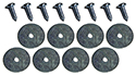 Arm rest bodies to door panels screws and washers (16 pcs-2 sides)