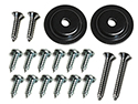 Armrest wedge spacers (21134-5) to doors screws and washers (18 pcs-2 sides)