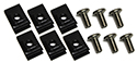 57 Thunderbird Exhaust deflectors to bumper bolts and nuts, (12 pieces - 2 sides)