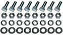 57 Thunderbird Front bumper tips to bumper bolts, nuts,  flat and lock washers, (32 pcs-2 sides)
