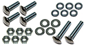55 Thunderbird Rear bumper to brackets bolts, nuts, flat and lock washers, (22 pcs-2 sides)