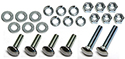 56 Thunderbird Rear bumper to brackets bolts, nuts, flat and lock washers, show quality bumper bolts 56 (24 pcs-2 sides