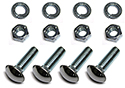 57 Thunderbird Rear bumper to brackets bolts, nuts, flat and lock washers, 57 (16 pcs-2 sides)