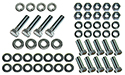 56 Thunderbird Rear bumper brackets to frame bolts, nuts,  flat and lock washers, (56 pieces-2 sides)