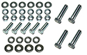 57 Thunderbird Rear bumper brackets to frame,bolts, nuts,  flat and lock washers  (36 pcs-2 sides)