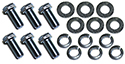 56 Thunderbird Upper rear bumper to lower rear bumper Bolts, lock washers and flat washers, (18 pcs)