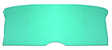 55 Thunderbird Backrest board, Green